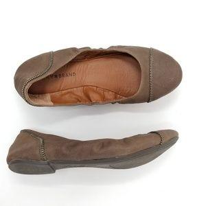 Lucky Brand - Leather 'Esste' Zipper Flats